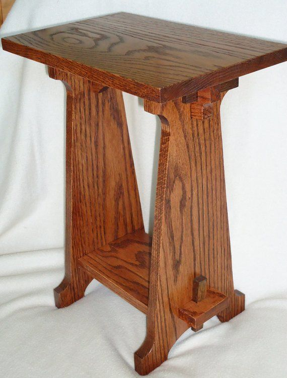 Handmade Arts Crafts Style Oak Table Oak Table Craftsman