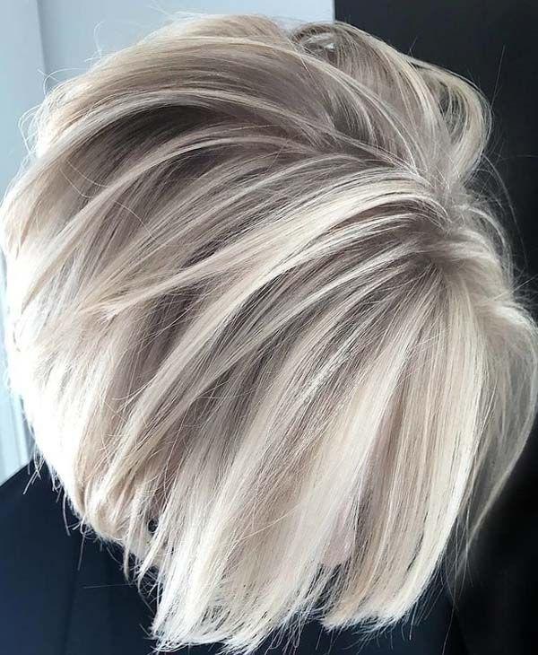 46 Wunderschöne eisblonde Balayage-Haarfarbe für 2018 #blondehair