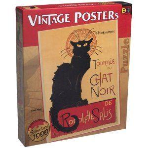 Vintage Posters Chat Noir 1000 Piece Puzzle