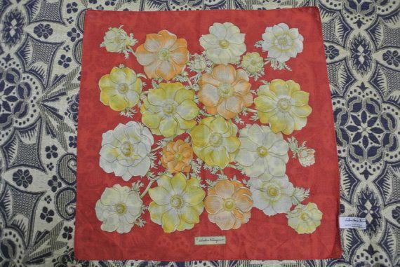 SALVATORE FERRAGAMO cotton Handkerchief Pocket Square