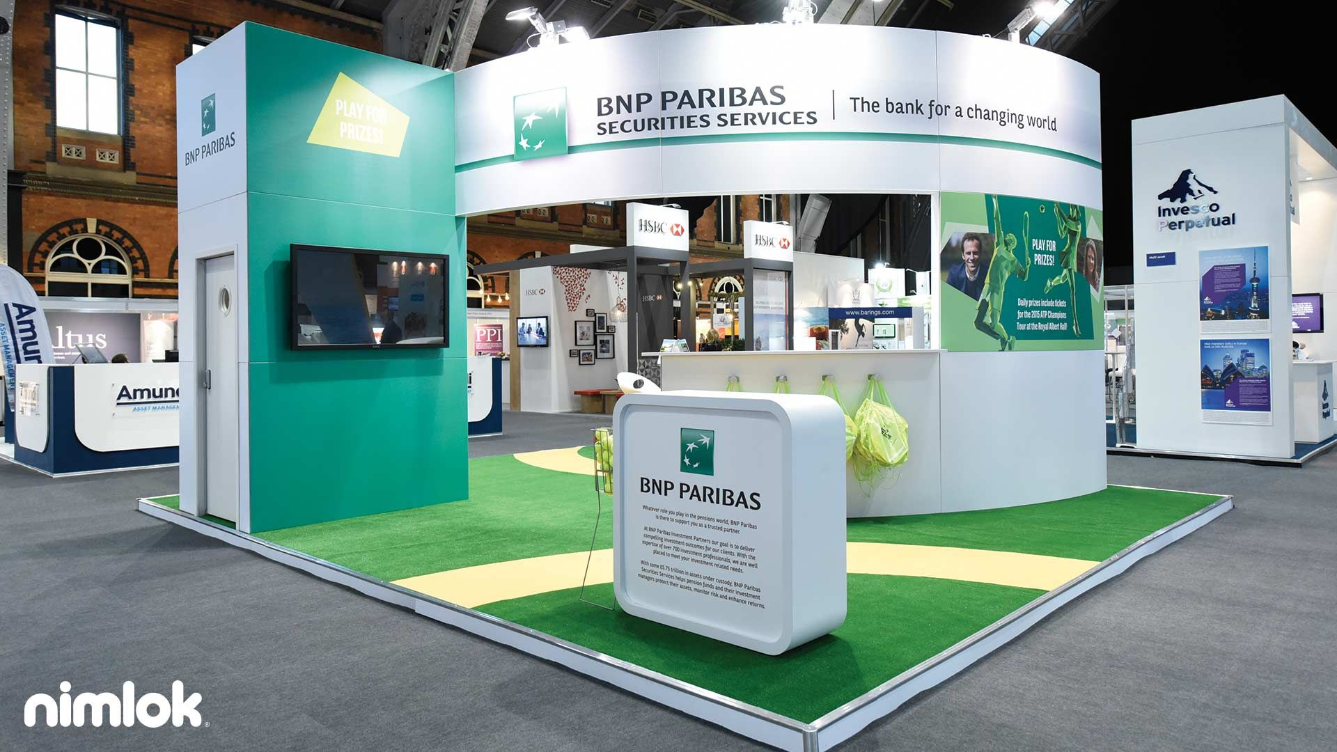 Fabric Exhibition Stand Examples : This island trade show booth is an example of smart