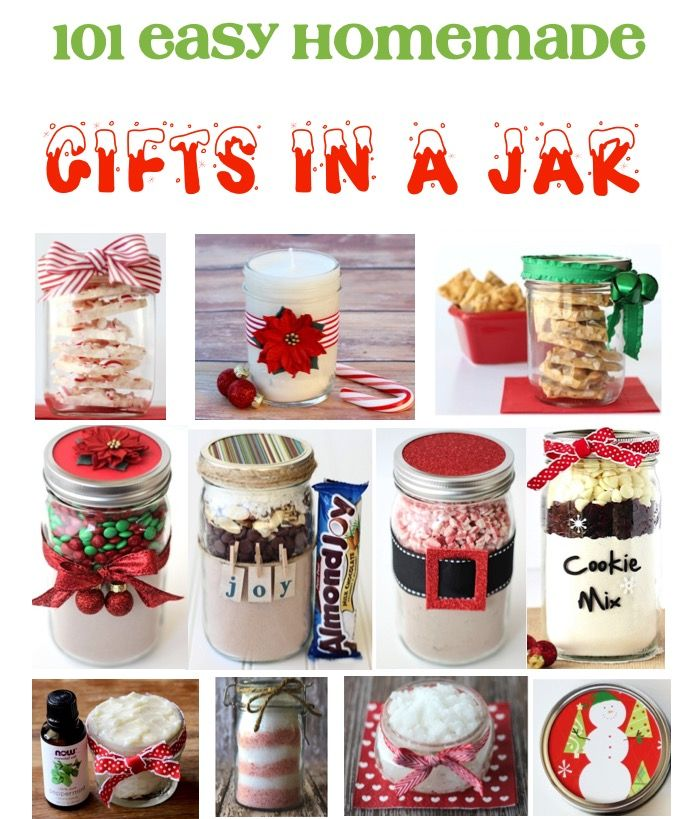 101 Gifts In A Jar Ideas And Recipes So Many Easy Homemade Gift Ideas Friends And Family Will L Inexpensive Diy Christmas Gifts Easy Homemade Gifts Jar Gifts