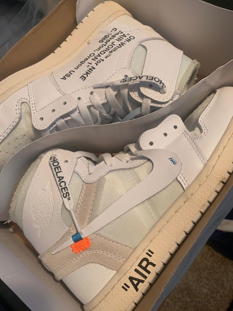10872a628e2ce7 Air Jordan 1 X Off-White NRG Size 9 StockX Authentic  fashion  clothing   shoes  accessories  mensshoes  athleticshoes (ebay link)