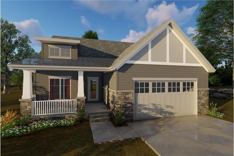 2 Bedroom Craftsman House Plan 100 1205 1440 Sq Ft Home Craftsman Style House Plans Craftsman House Plans Craftsman House