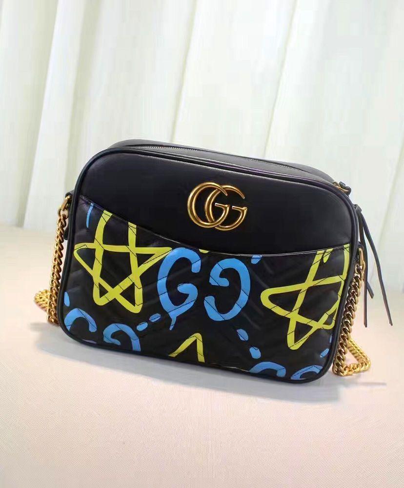 cef6da0e033 2016 Gucci GG Marmont GucciGhost Shoulder Bag 443499