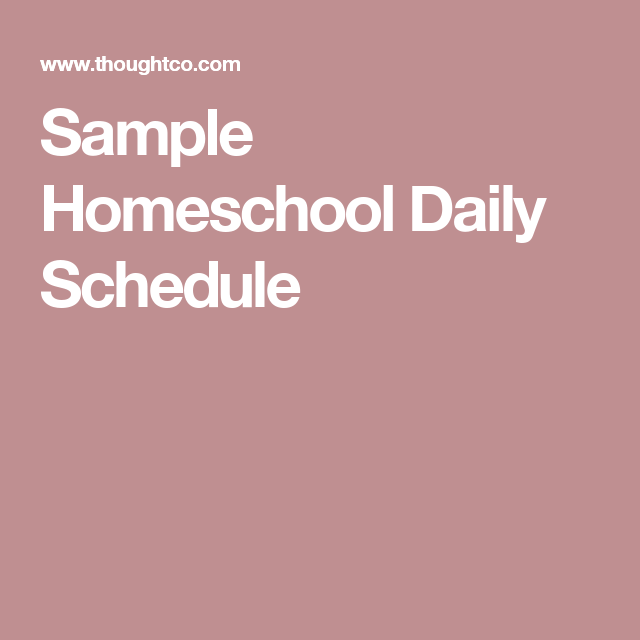 Easy Tips For Creating Yearly Weekly And Daily Homeschool
