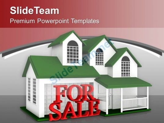 Beautiful House For Sale Real Estate Powerpoint Templates Ppt Themes