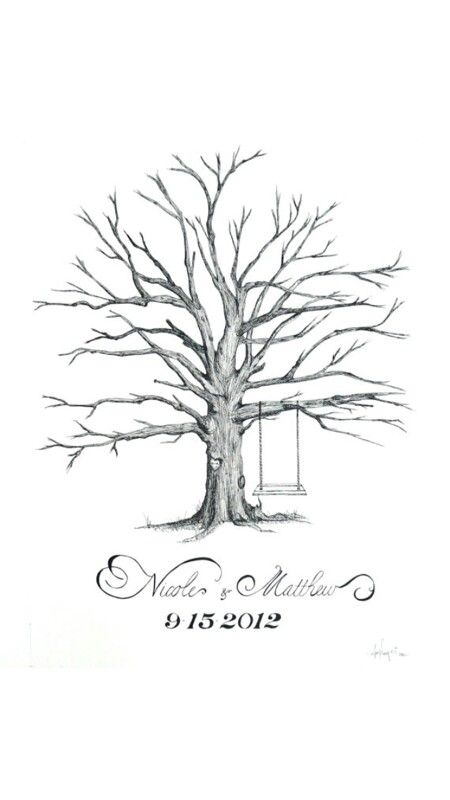 Thumbprint tree drawings pinterest thumbprint tree and trees incredible hand drawn wedding guestbook trees your guests leave a thumbprint as leaves and sign it by penandinkwell on etsy pronofoot35fo Gallery