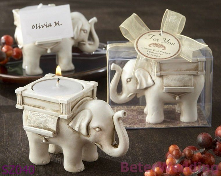 indian wedding favors Lucky Elephant Tea Light Holder /w tea light ...
