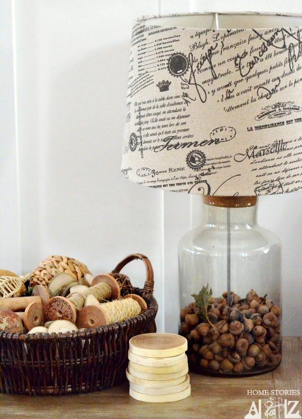 acorns in lamp
