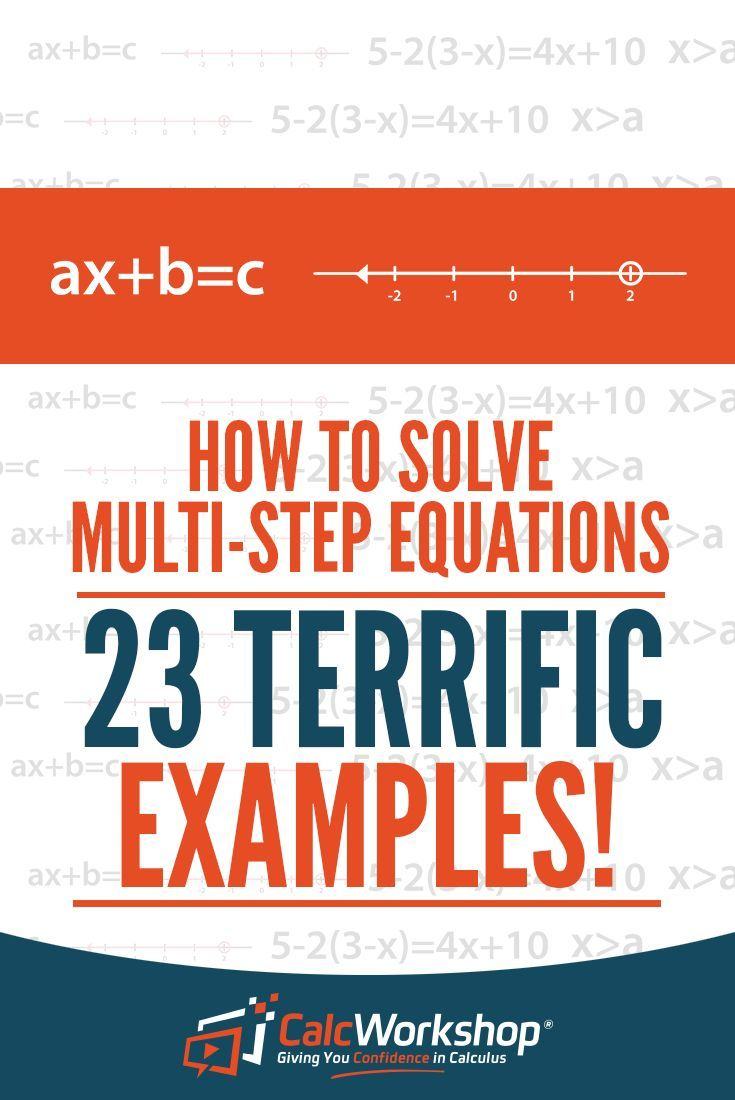 How to solve multistep equations 23 surefire examples