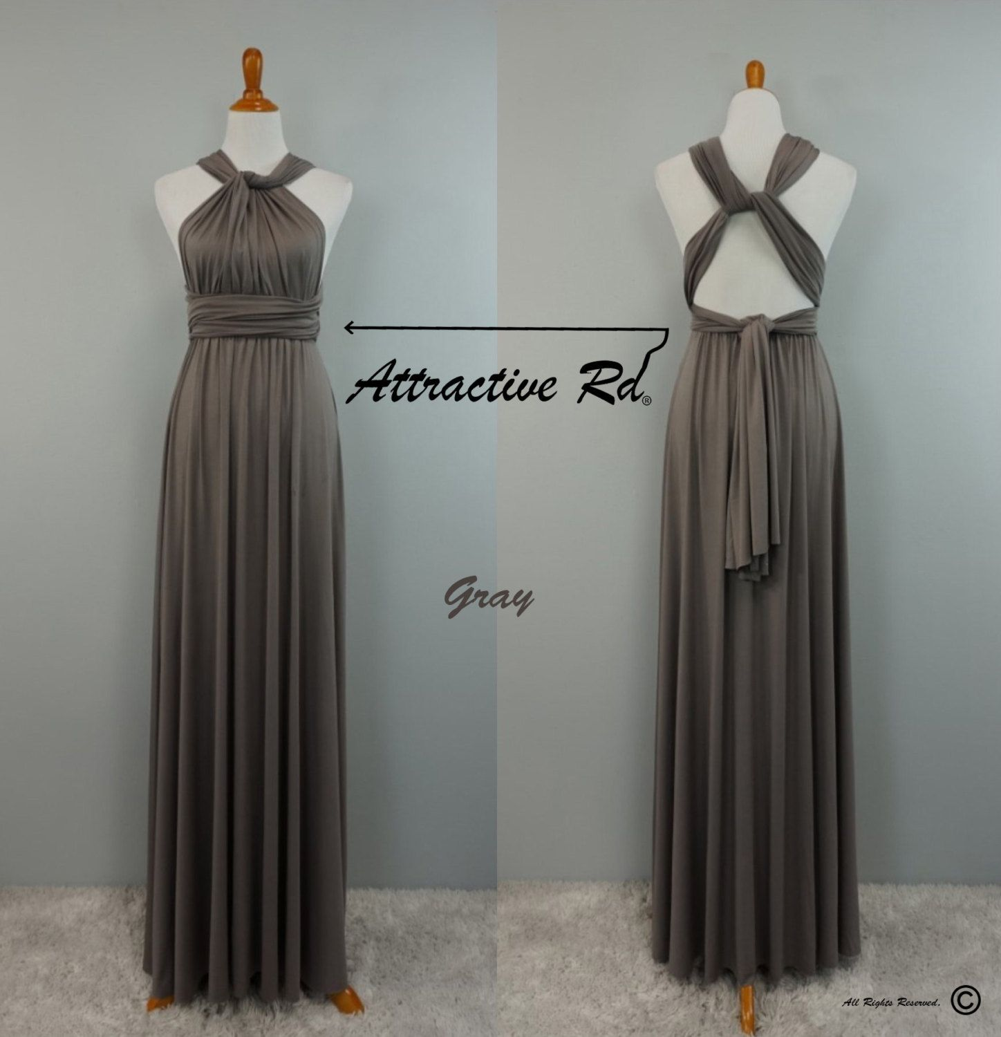 Gray dress dresses plus size dresses plus size bridesmaid gray dressbridesmaid dressinfinity dressconvertible dressparty dressmulti way dresscocktail dressevening dressprom dresslong dress ombrellifo Image collections