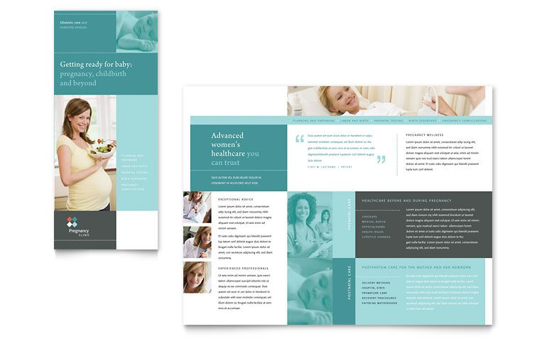 Pregnancy Clinic Tri Fold Brochure Template Design template - free brochure templates microsoft word