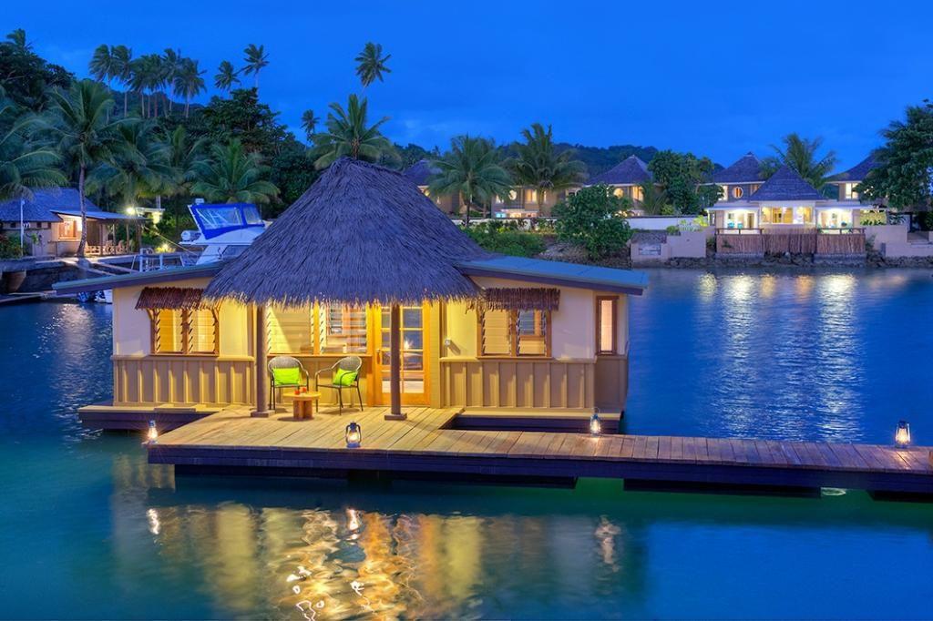 Koro Sun Resort And Rainforest Spa Food Overwater