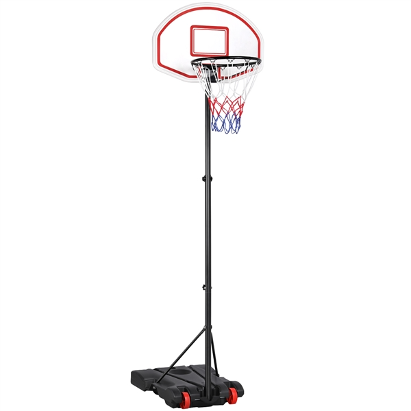 Height Adjustable Basketball Hoop System With Weels Portable Basketball Goal For Kids Youth Indoor Outdoor Walmart Com In 2020 Adjustable Basketball Hoop Basketball Hoop Basketball Goals