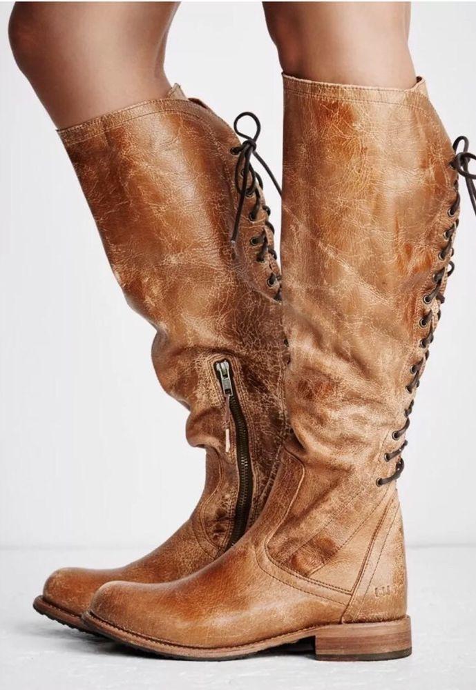 de unde pot cumpăra outlet online oferta specifica $325 New Free People Bed Stu Surrey Tall Leather Boots Caramel Lux ...