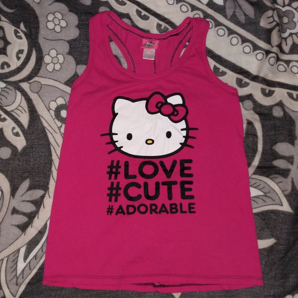 4a556b4ac Hello Kitty Women's / Juniors T Shirt Small hot pink tank top adorable cute  love #fashion #clothing #shoes #accessories #womensclothing #tops (ebay  link)