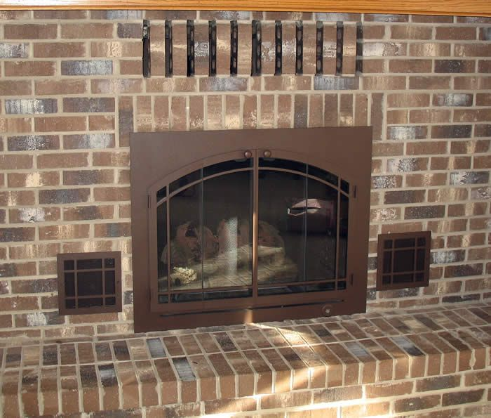 Glass Fireplace Doors With Vents New Fireplaces Trends Design