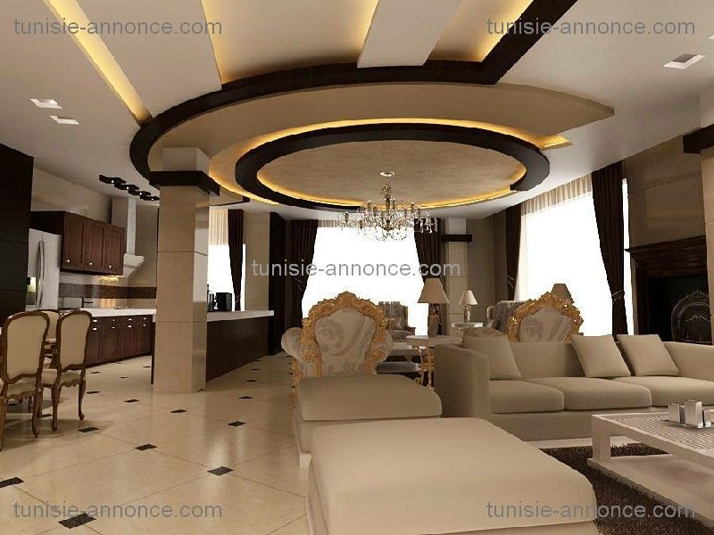 Decoration Faux Plafond Salon. Excellent Dcoration Salon Marocain ...