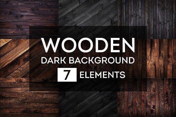 Dark wooden backgrounds bundle #1 by Max Lashcheuski on