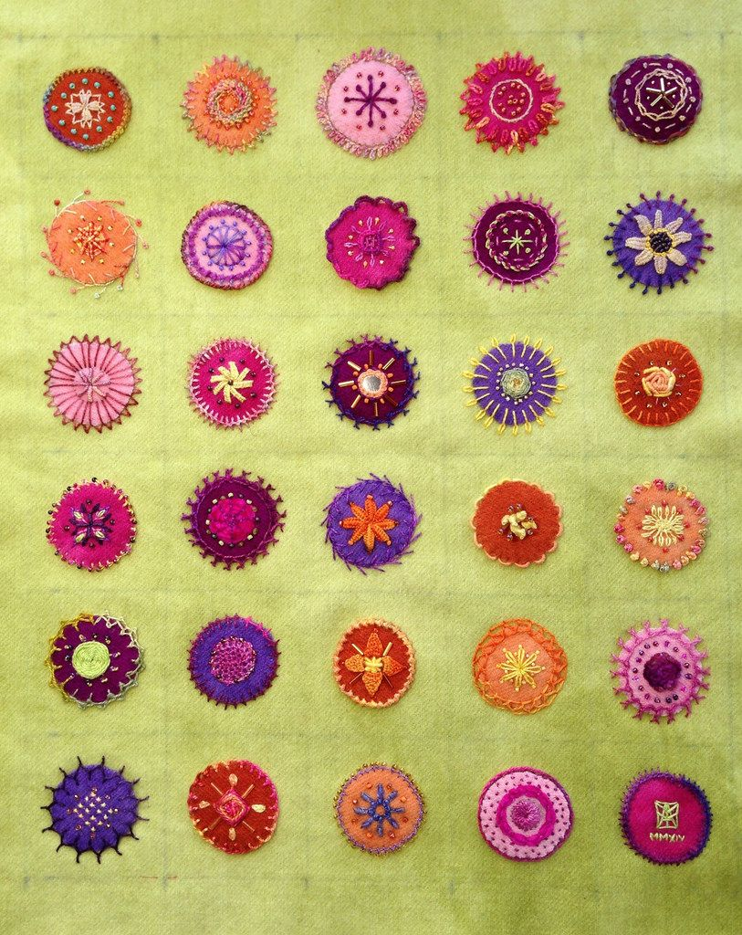 Embroidered Mandalas Sampler - Creative Stitching - Sue Spargo inspired.