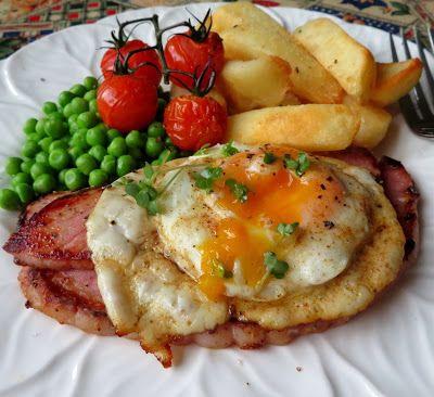 Gammon Steak, Egg & Chips | Recipe in 2020 | Gammon steak ...
