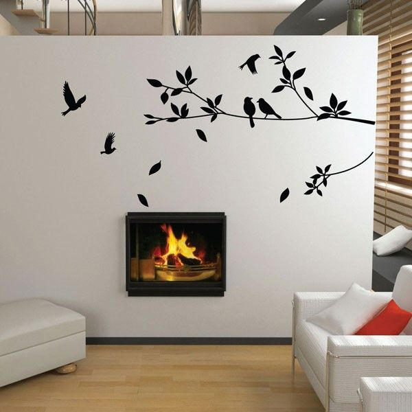Stylish Tree And Bird Wall Sticker This Stunning Unique Décor Is Certainly A Way To Make Statement In Any Room Your Home