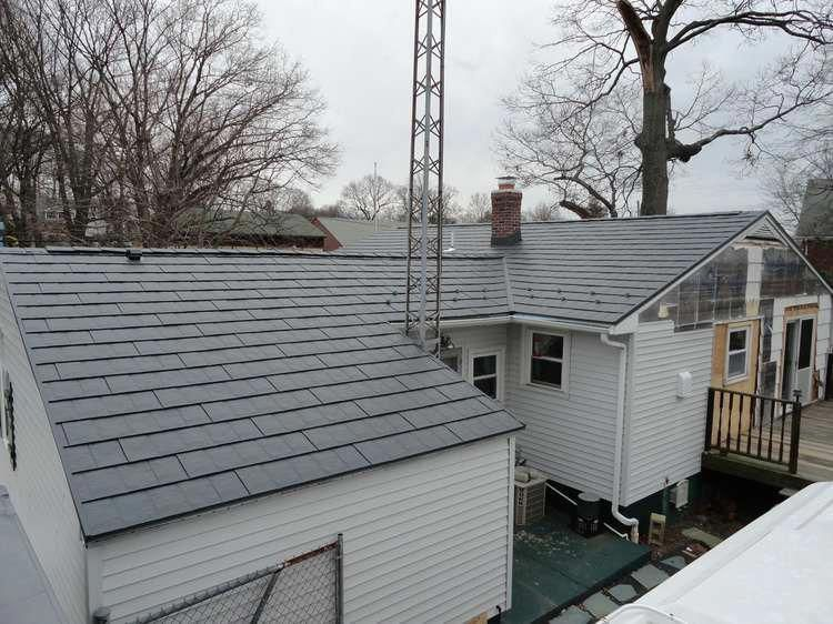 image of Metal Shingles Roof in Cumberland, RI view from
