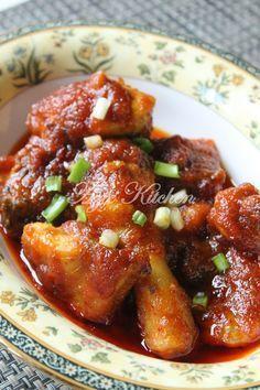 Azie Kitchen Ayam Masak Merah Wan Chu Yang Mudah Sedap Dan Terlaris Asian Cooking Asian Recipes Spicy Dishes