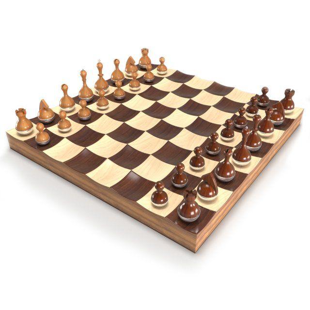 Wobble chess set 3D Model .max .c4d .obj .3ds .fbx .lwo .stl @3DExport.com by Mastclick