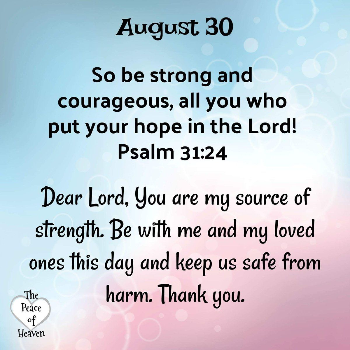 Prayer For Courage And Strength