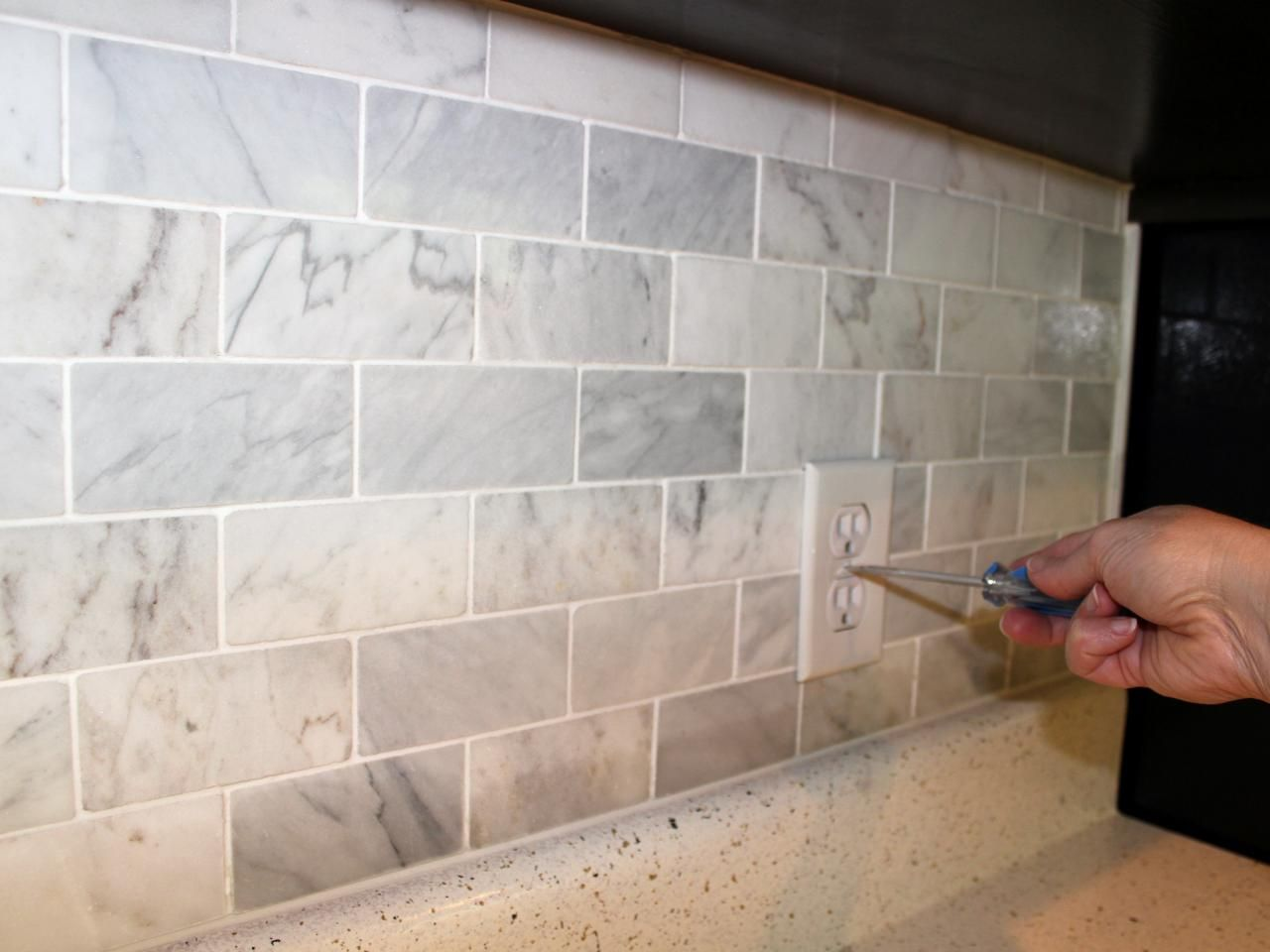 carrara marble grey and beige backsplash - Yahoo Image Search ...