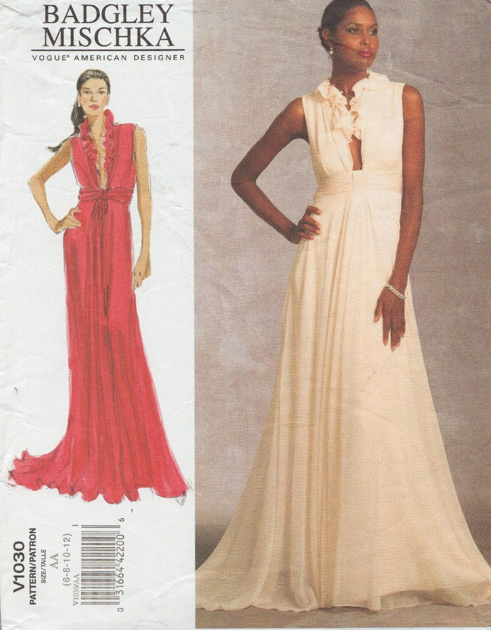Designer Sewing Pattern By Badgley Mischka / Vogue 1030 / Evening ...