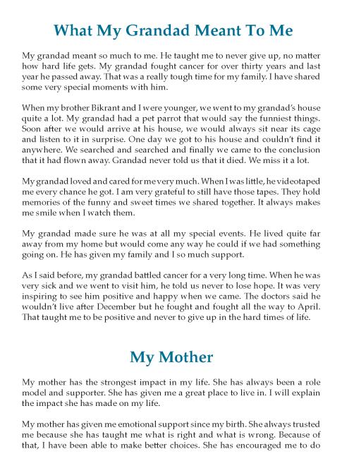 8th Grade Reflective Essay Sample Writing Skill English Year Up
