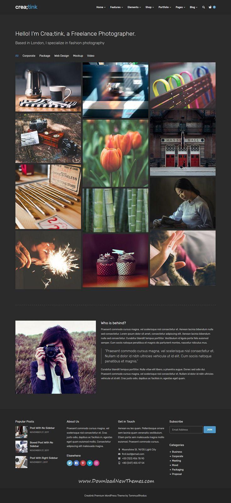 Creatink - Multi-Concept Responsive WordPress Theme   Wordpress ...
