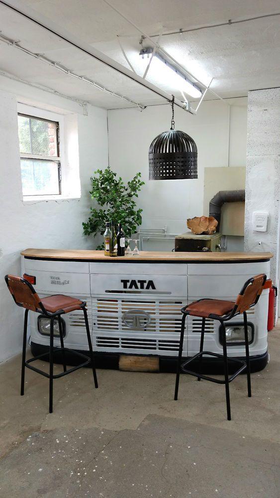Tresen Design barhocker barstuhl leder tresen theke metall industrie design modern