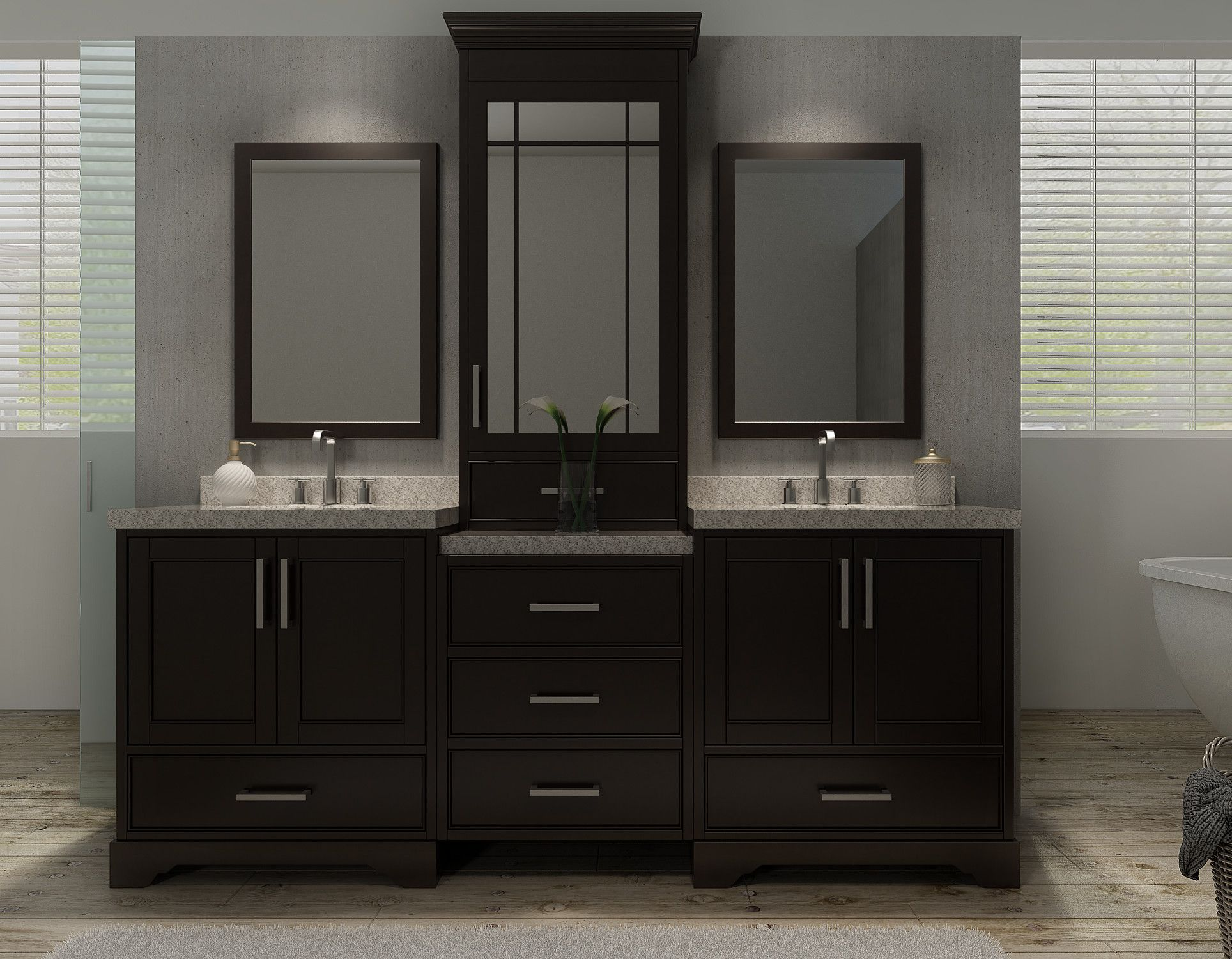Ace Stafford 85 Inch Double Sink Bathroom Vanity Set In Espresso Inspiration 72 Inch Bathroom Vanity Double Sink Decorating Inspiration