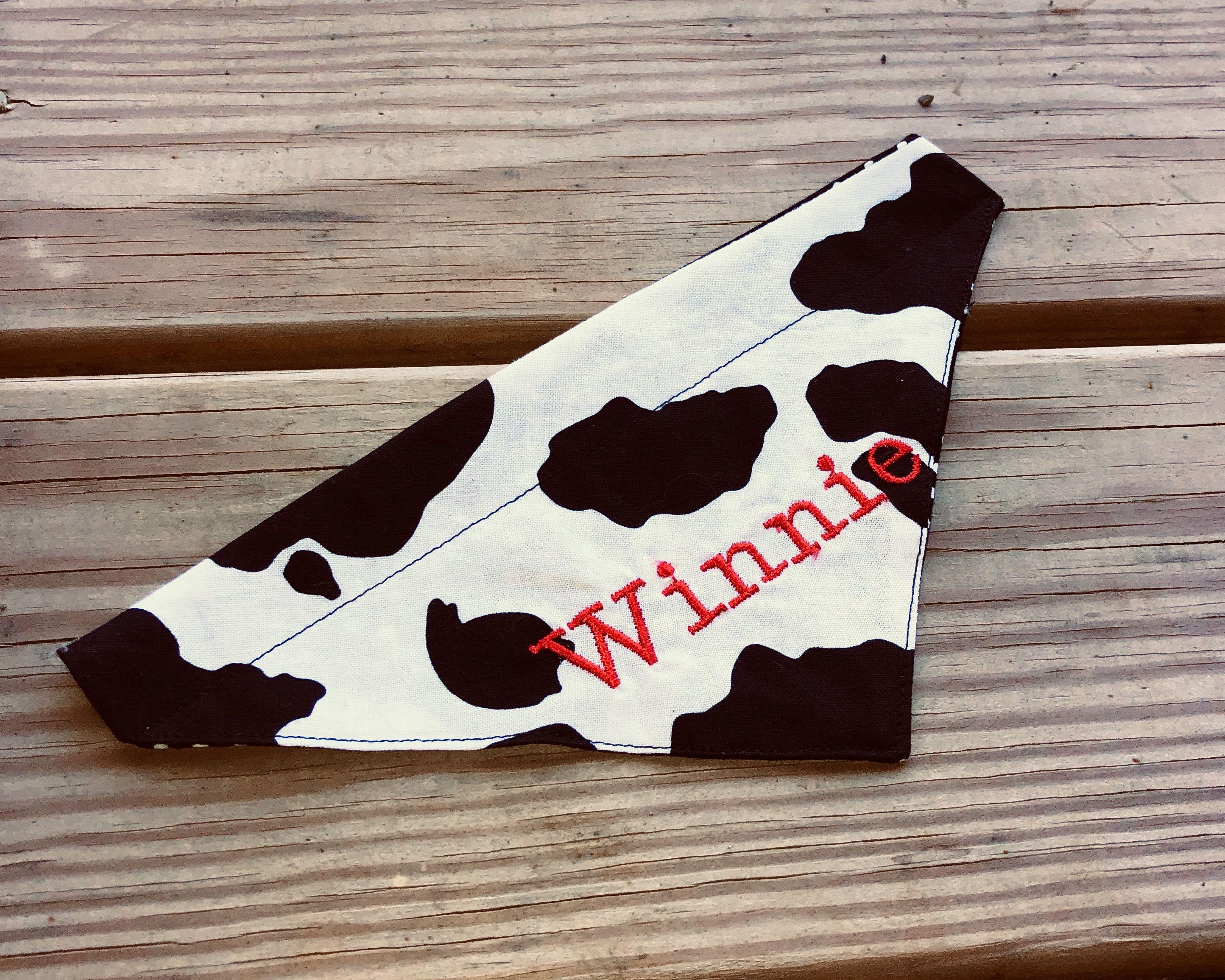 Cow Print Cat Bandana Free Personalization