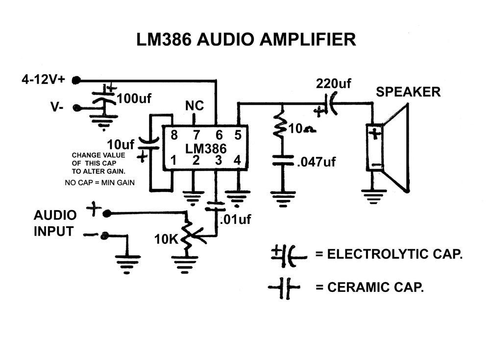 lm386 amp schematic