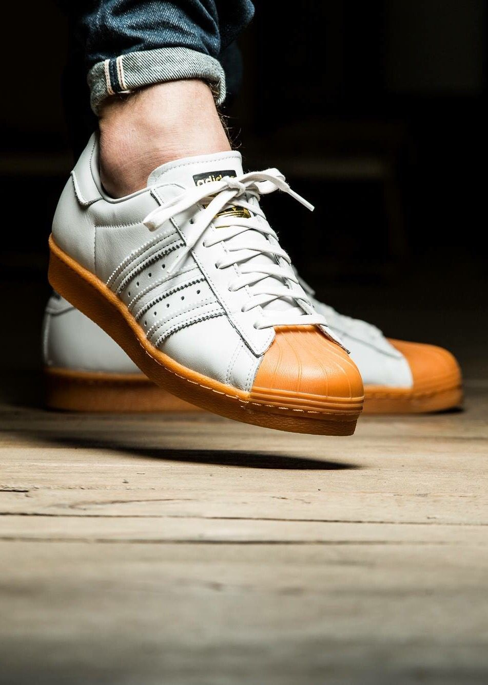 SUPER STAR W Q2 adidas Originals pour femme Blanc Orange