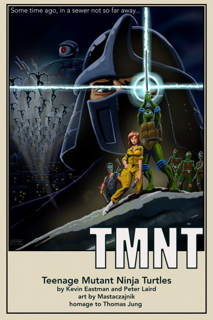 Tmnt Movie Poster By Mastaczajnik Tortues Ninja Dessin Anime Arts Martiaux