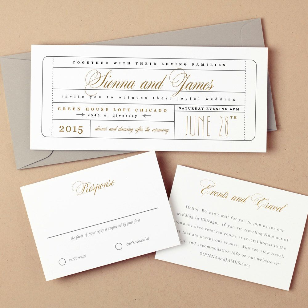 Invitation Template Word Fascinating Printable Wedding Invitation Template  Instant Download  Ticket .