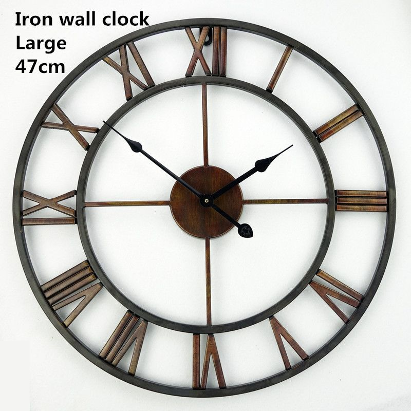 Free Shipping 185 Inch Oversized 3d Iron Decorative Wall Clock