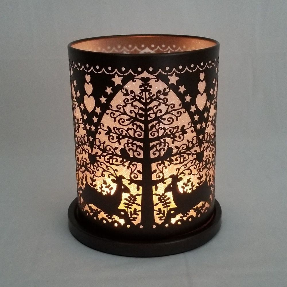 Partylite woodland deer votive tealight hurricane candle holder