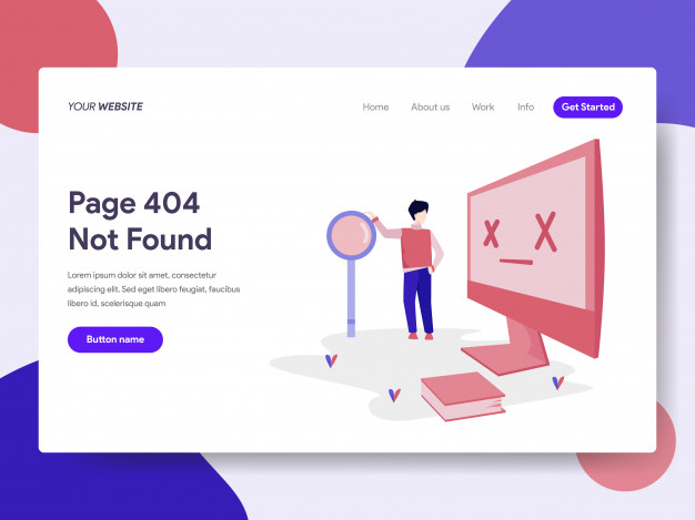 Landing Page Template Of 404 Error Landing Page Page Design Page Template