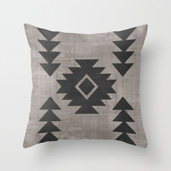 Boho Pillow, Tribal Pattern Throw Pillow, Aztec Cushion, Distressed Accent Pillow, Boho Decor, Gypsy Vibe, Geometric Ethnic Decor