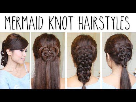 Easy Knotted Hairstyles Mermaid Knot Braid Hair Tutorial Youtube
