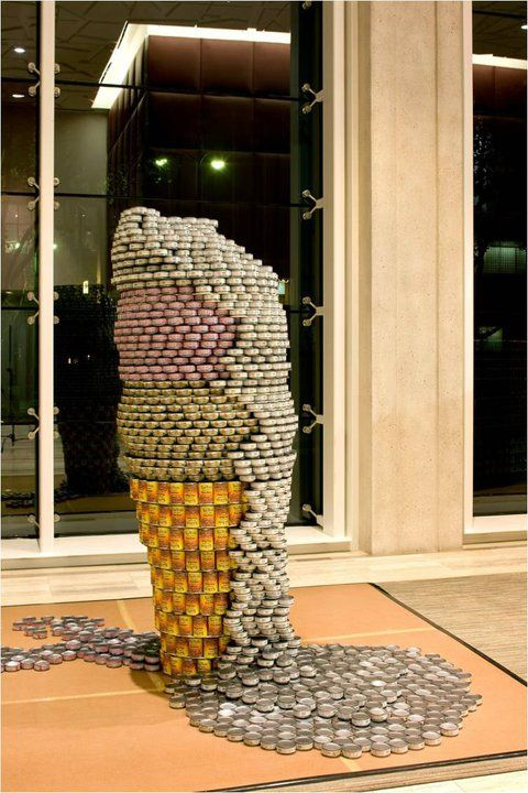 If It's Hip, It's Here: Canstruction - Food Can Sculptures [40 images] Help Raise Hunger Awareness.