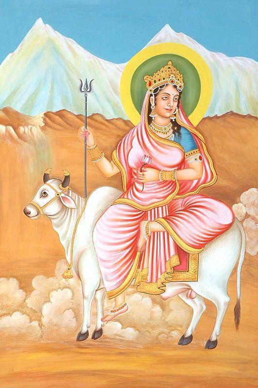 Sailaputri | Durga goddess, Durga, Navratri images