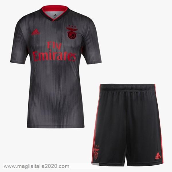 Away Set Completo Bambino Benfica 2019 2020 Nero Grigio Calcio ...